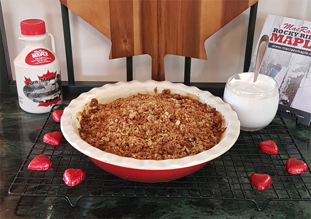 Maple Apple Crisp with Maple Whipped Cream